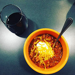 A chili recipe for when it's chilly