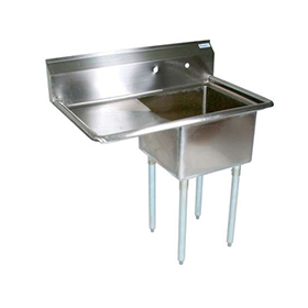 Commercial Restaurant Sinks : ... Sink - Commercial Kitchen Sinks - One Compartment - ZESCO.com