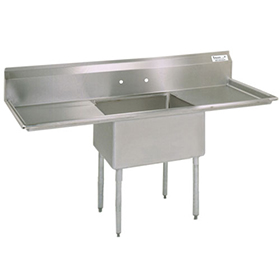 single compartment sink with drainboards bk bks 1 1620 12 18t   one compartment sink   kitchen sinks   one      rh   zesco com