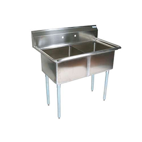Commercial Restaurant Sinks : ... Sink - Commercial Kitchen Sinks - Two Compartment - ZESCO.com