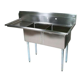 Commercial Sink : ... Sink - Commercial Kitchen Sinks - Two Compartment - ZESCO.com