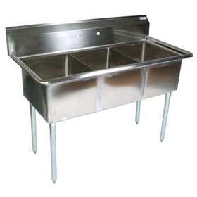 Commercial Triple Sink : 1620-12 - Three Compartment Sink - Commercial Kitchen Sinks - Three ...