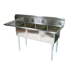 Commercial Kitchen Sinks 3 Compartment : ... Three Compartment Sink - Commercial Kitchen Sinks - Three Compartment