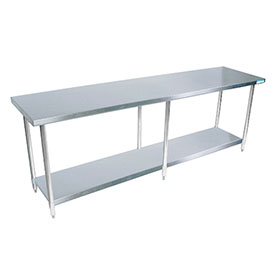 BK SVT Flat Top Worktable Wide X Deep Work Tables - 18 wide stainless steel work table