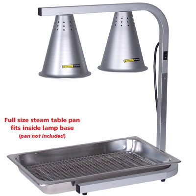 Adcraft Hl 2 Two Bulb Heat Lamp C Base For Food Pan Holiday Catering Zesco Com