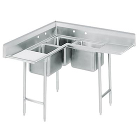 corner sink - Three Compartment Kitchen Sink