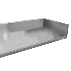 Advance Tabco EKSSM Work Table Enclosed Base W X - Stainless steel table with backsplash and sides