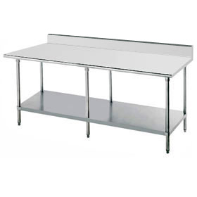Advance Tabco KSS 2410   Work Table   120 W X 24 D   5 Back Splash $1,463.85