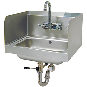... Hand Sink with Side Splash - Wall Mount - Hand Wash Sinks - ZESCO.com