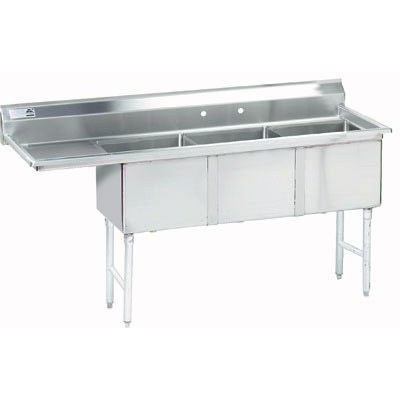 Advance Tabco FC-3-1818-18RL 18 x 18 3 Compartment Sink