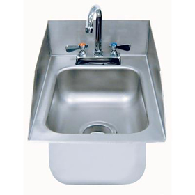 Advance tabco di 1 5sp hand sink drop in splash for Splash guard kitchen sink