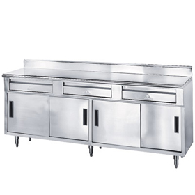 Advance Tabco SDRC Work Table Enclosed Base W X D - Enclosed stainless steel work table