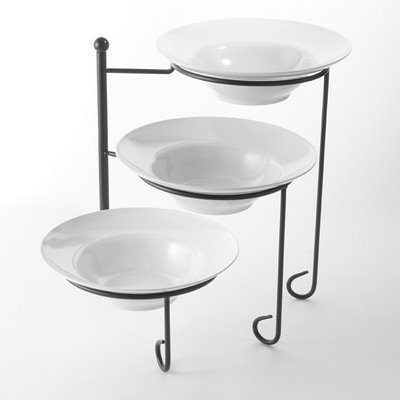 american metalcraft ttrsmel7 3 tier foldable display stand with bowls