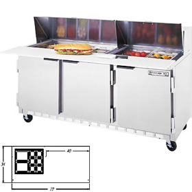 Beverage Air SPE72-12M Sandwich Prep Table