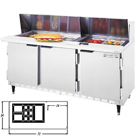 Beverage Air SPE72-18M Sandwich Prep Table