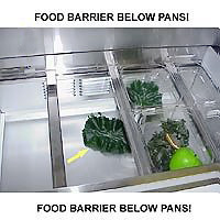 Food Barrier Below Pans