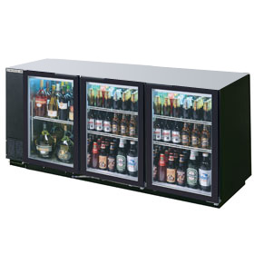 "Beverage Air BB72GY-1-B 72"" Back Bar Cooler"