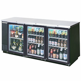 "Beverage Air BB78G-1-B 79"" Back Bar Cooler"