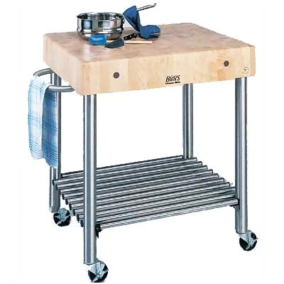 John Boos Cucd15 Butcher Block Cart With Stainless Base 1 139 00