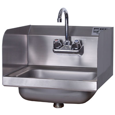 Commercial Hand Sink : ... Hand Wash Sink - Side Splash - Wall Mount - Hand Wash Sinks - ZESCO
