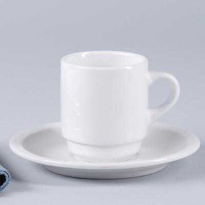 Cup with Saucer & World Tableware 840-145-006 - Porcelana Espresso Cups - 3-1/2 Oz ...