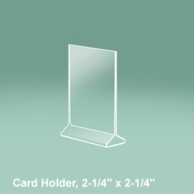 CalMil Card Holders Two Faces Acrylic Signs Table - Acrylic table tent holders