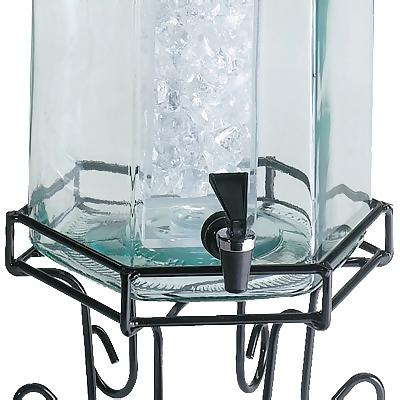 Glass Dispenser with Ice Chamber