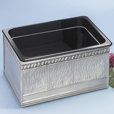 rectangular hammered rentals tub alex product accessories catalog bar ice party