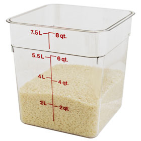 Cambro 8 Quart Clear Storage Container