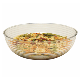 Cambro Round Ribbed Bowls, Clear