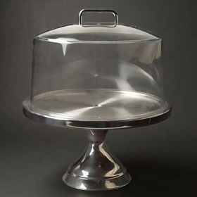 Stainless Steel Cake Stand · Cake Cover with Stand & Winco CKS-13 - Stainless Steel Cake Stand - Acrylic Display Cases ...