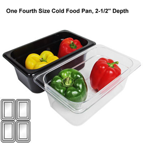 Cambro 42CW - Fourth (Quarter) Size x 2-1/2 Deep - Cold Food Pans