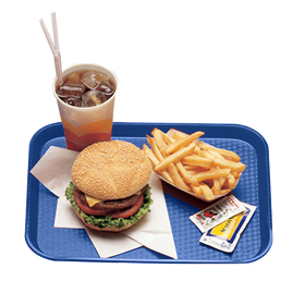 Fast Food Trays, Navy Blue