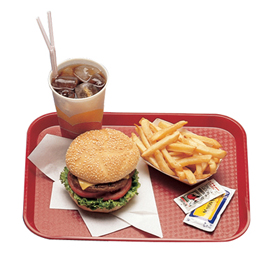Fast Food Trays, Red