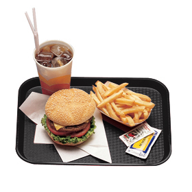 Fast Food Trays, Black