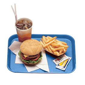 Fast Food Trays, Blue