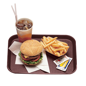 Fast Food Trays, Brown