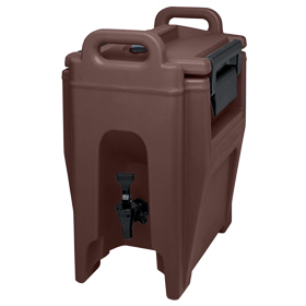 Cambro 2 1/2 Gallon Beverage Dispenser, Dark Brown