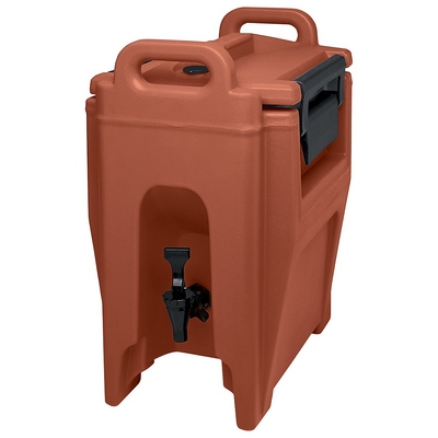 Cambro 2 1/2 Gallon Beverage Dispenser, Brick Red