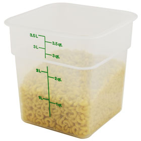 4 Quart Food Storage Container  sc 1 st  ZESCO.com & Cambro 4SFSPP-190 - CamSquare Food Storage Container - 4 Quart ...