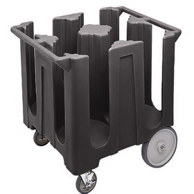 Cambro 4 Column Dish Caddy Black  sc 1 st  ZESCO.com & Cambro DC-1225 - Dish Caddy Dolly - Holds Plates up to 12.25 ...