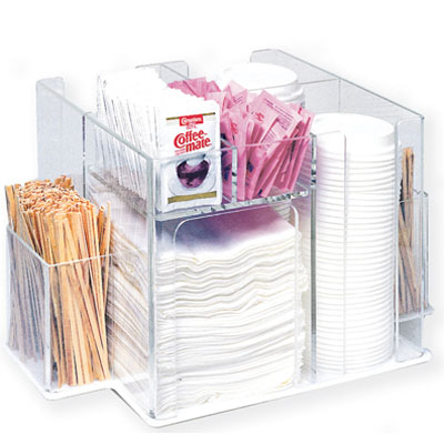 Aubright TC Cup Lid And Condiment Organizer Swivel Acrylic - Restaurant table organizers