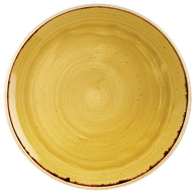 Churchill SMSSEV121 Plate - Mustard Seed Yellow