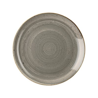 Churchill SPGSEVP81 Plate - Peppercorn Grey