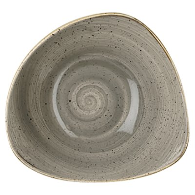 Churchill SPGSTRB91 Triangle Bowl - Peppercorn Grey