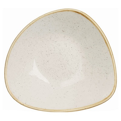 Churchill SWHSTRB71 Triangle Bowl - Barley White