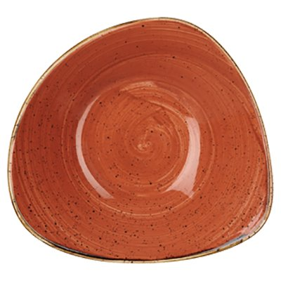 Churchill SSOSTRB71 Triangle Bowl - Spiced Orange