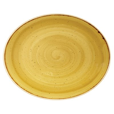 Churchill SMSSOP71 Coupe Plate - Mustard Seed Yellow