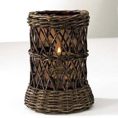 Brown Wicker with Nutmeg Cylinder