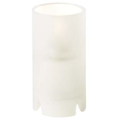 Crimp Cylinder Lamp - Frosted